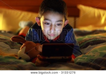 Kid Play With Videogame