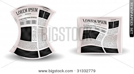 Vector newspapers and news icon.