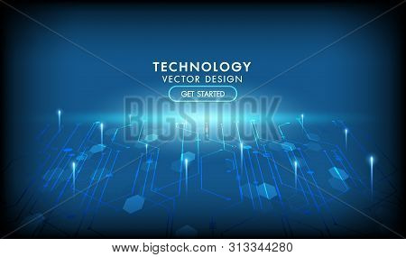 Internet Connection Networking Vector Abstract Futuristic Background.illustration High Computer Tech