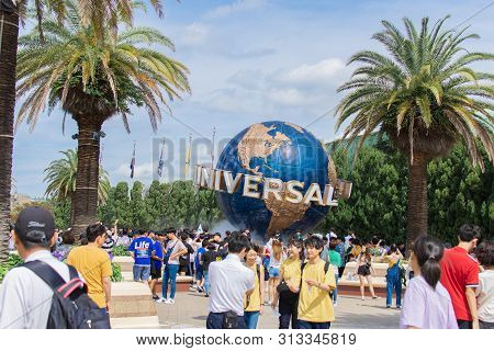Osaka Japan June 2019: Universal Studios Of Japan. Universal Studios Japan For Travel Tourism With G