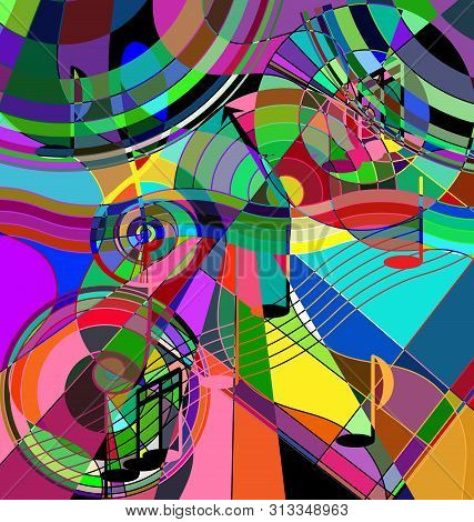 Abstract Color Image Of The Music Chaos