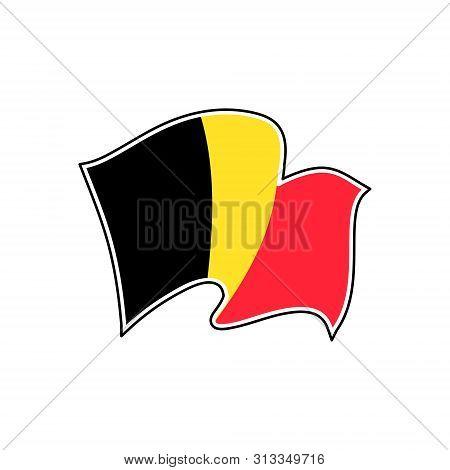 Vector Flag Of Belgium. Belgium Vector Flag. Brussels
