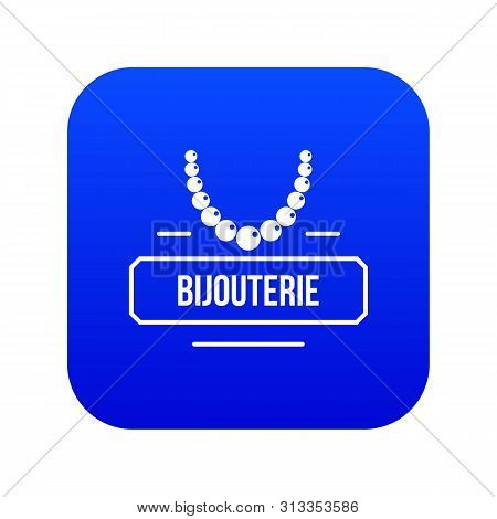 Jewelry Bijouterie Icon Blue Vector Isolated On White Background