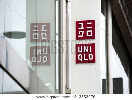 London, United Kingdom, 17th July 2019, Uni Qlo Sign