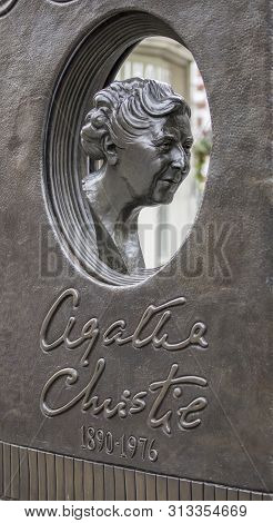 London, United Kingdom, 17th July 2019, Statue Of Agatha Christie In Soho London