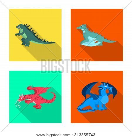Vector Design Of Legend And Halloween Logo. Collection Of Legend And History Stock Vector Illustrati