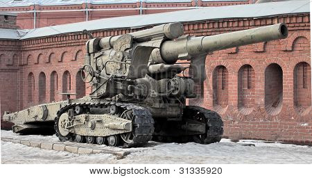 "Towed 203-mm howitzer B-4 arr. 1931 ""Stalin Sledgehammer"" poster"