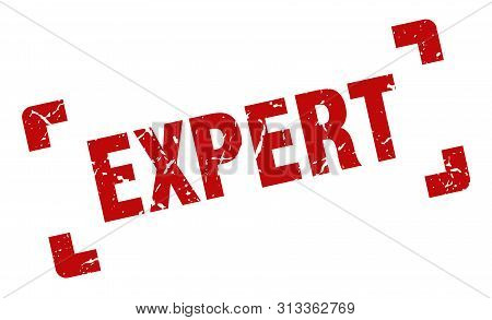 Expert Stamp. Expert Square Grunge Sign. Expert