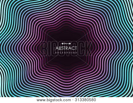 Abstract Colorful Line Neon Pattern Wavy Design For Modern Style Background. Illustration Vector Eps