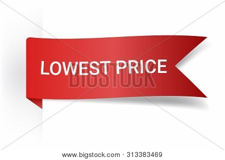 Lowest Price Realistic Detailed Curved Paper Banner. Ribbons With Space For Text. Isolated On White