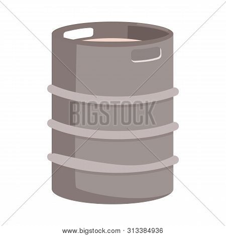 Isolated Object Of Cask And Barrel Logo. Collection Of Cask And Sketch Stock Vector Illustration.
