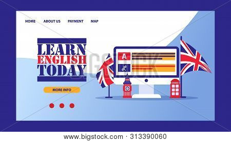 Time Learn English- Vector & Photo (Free Trial) | Bigstock