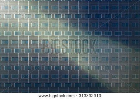 Architectural Pattern, Modern Window Facade With Sunbeam