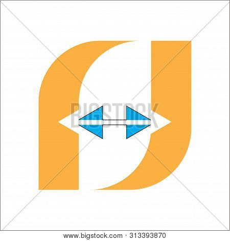 Letter F Logo. In Vector And Isolated With A White Background