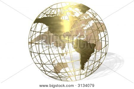 Gold Globe Shadow