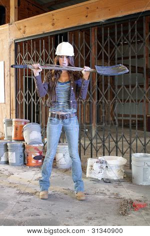 Beautiful Young Construction Worker (2)