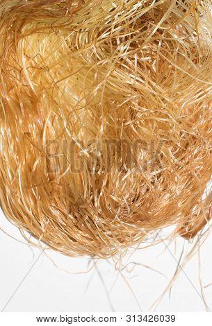 Corn Stigmas Of Ripe Yellow Corn On Reduced Background For Design