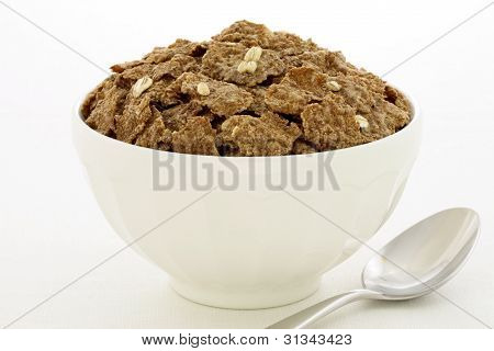 Wheat Bran Flakes Cereal Breakfast With Rolled Oats
