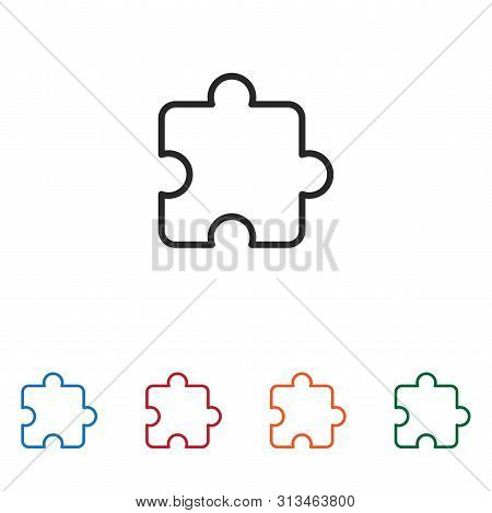Puzzle Icon Isolated On White Background. Puzzle Icon In Trendy Design Style. Puzzle Vector Icon Mod