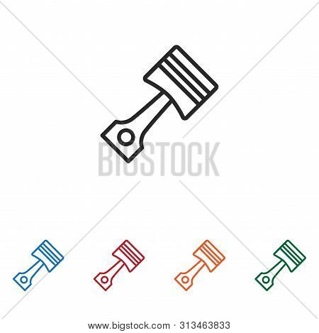 Piston Icon Isolated On White Background. Piston Icon In Trendy Design Style. Piston Vector Icon Mod