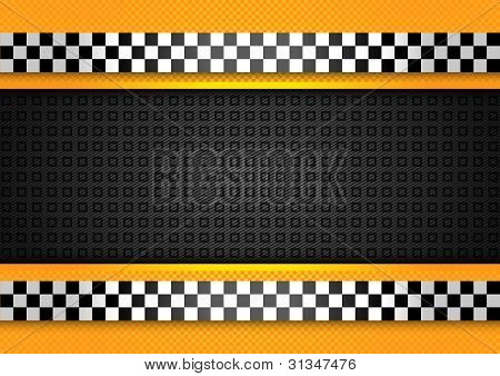 Taxi cab background, racing blank template