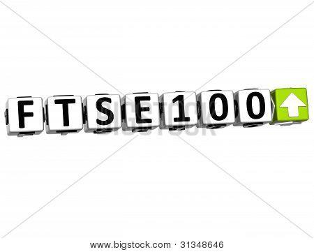 3D Ftse100 Stock Market Block Text
