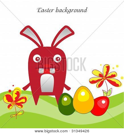 Easter bunny backgraund