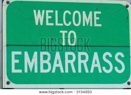 Embarrass Sign
