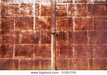 Old Rusted Locked Door