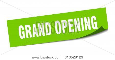 Grand Opening Sticker. Grand Opening Square Isolated Sign. Grand Opening