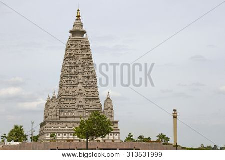 Watpanyanantaram, Thailand - July 14, 2019: Bodh Gaya Is A Religious Site And Place Of Pilgrimage As