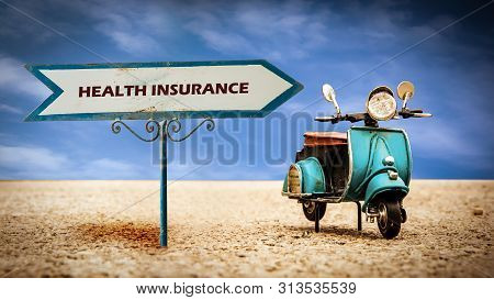 Street Sign To Health Insurance