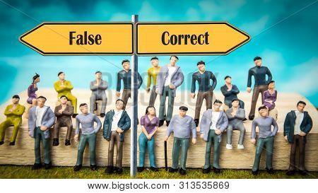 Street Sign Correct Versus False