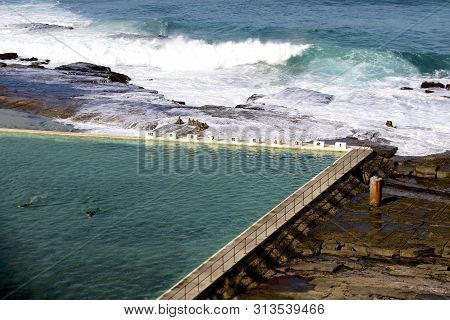 Merewether Salt Water Ocean Baths In Newcastle, Nsw, Australia