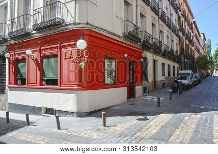 Madrid,spain-september 13: Oldest In Madrid Taberna Since 1870 Year- September 13, 2017, Madrid