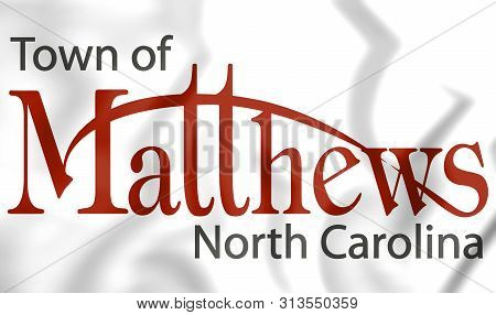 3d Emblem Of Matthews (north Carolina), Usa. 3d Illustration.