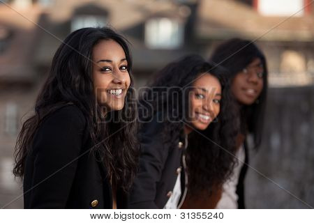 Portrait  Of Happy Youngs African American Teenage Girl
