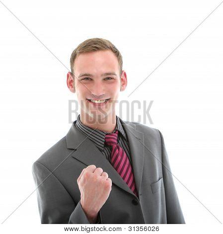 Hansome Successful Man In Suit