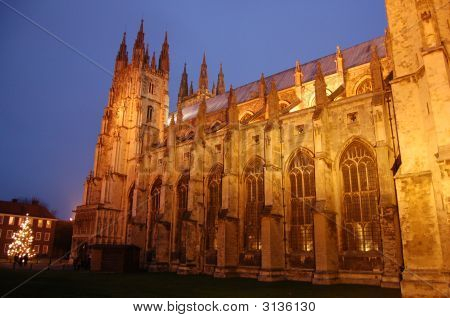Canterbury Cathedral Lights On