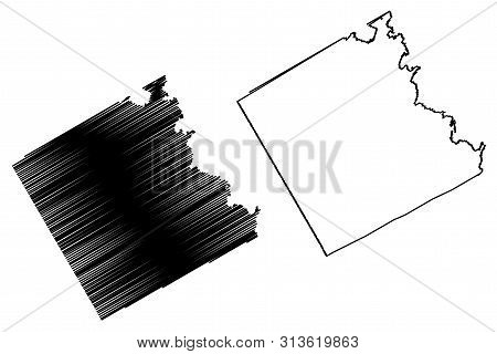 Freestone County, Texas (counties In Texas, United States Of America,usa, U.s., Us) Map Vector Illus