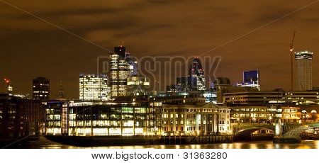 City Of London Cityscape At Night