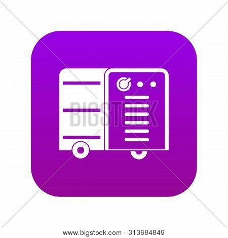 Inverter Welding Machine Icon Digital Purple For Any Design Isolated On White Vector Illustration