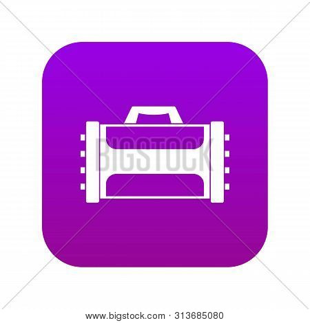 Welding Machine Icon Digital Purple For Any Design Isolated On White Vector Illustration