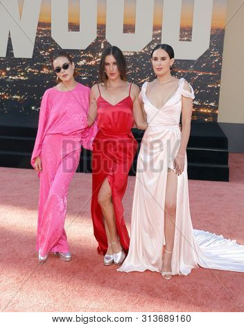 Rumer Willis, Tallulah Willis and Scout Willis at the Los Angeles premiere of 'Once Upon a Time In Hollywood' held at the TCL Chinese Theatre IMAX in Hollywood, USA on July 22, 2019.