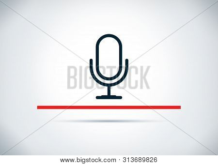 Microphone Icon Isolated On Abstract Flat Background Design Illustration