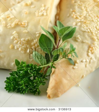 Herbs And Pastry Background