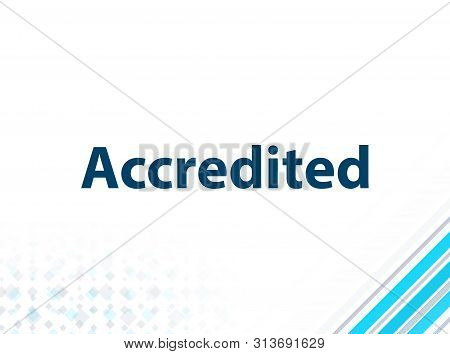 Accredited Isolated On Modern Flat Design Blue Abstract Background