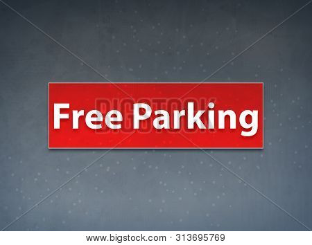 Free Parking Isolated on Red Banner Abstract Background illustration Design poster