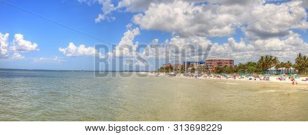 Panoramic Of Fort Myers Beach In Fort Myers