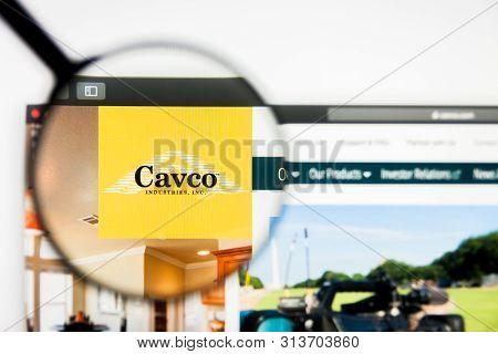 Richmond, Virginia, Usa - 26 July 2019: Illustrative Editorial Of Cavco Industries Inc Website Homep